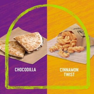 Esok nak buka nanti takkan takda dessert? We suggest the indulgent Chocodilla or the crunchy Cinnamon Twist. Boleh share ramai ramai! ⁣ ⁣ Which one is your pick? Drop us a comment below! #LiveKawKaw #LiveMas #TacoBellMalaysia⁣