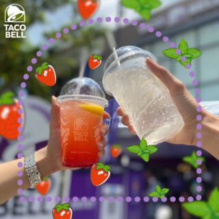 Your Taco Bell experience won't be complete without Taco Bell Sparklers. They're specially made only for Malaysians. Yes, they're THAT special!⁣ ⁣ Are you team strawberry, team mint or both? #LiveKawKaw #LiveMas